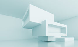 Abstract Architecture Concept. 3d Illustration of Abstract Architecture Concept Stock Photo