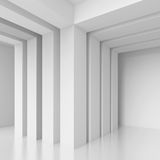 Abstract Architecture Concept. 3d White Abstract Architecture Concept Stock Images