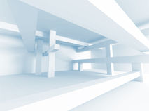 Abstract Architecture Concept. Modern Building Interior Design. 3d render Illustration stock illustration