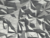 Abstract architecture concrete chaotic pattern wall background. 3d render illustration vector illustration