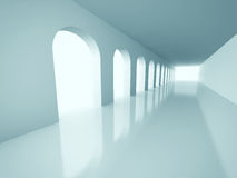 Abstract Architecture Corridor Interior Background. 3d Render Illustration Stock Photo