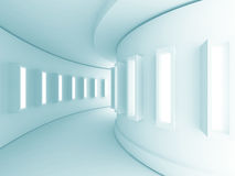 Abstract Architecture Corridor Interior Background. 3d Render Illustration royalty free illustration