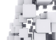 Abstract architecture. 3D cubes on white background. Digital design vector illustration