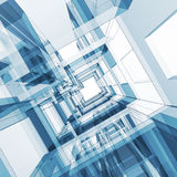 Abstract architecture. 3d render image Stock Photos