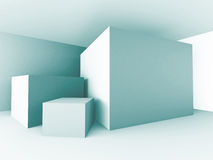Abstract Architecture Design Block Cubes Background Royalty Free Stock Photo