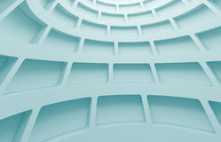 Abstract Architecture Design. 3d Blue Abstract Architecture Design Stock Photo