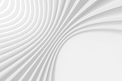 Abstract Architecture Design. 3d White Circular Background. Abstract Architecture Design Stock Images