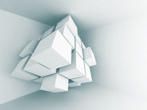 Abstract Architecture Design Element Background. 3d Render Illustration stock illustration