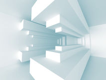 Abstract Architecture Design Interior Background. 3d Render Illustration Stock Photo