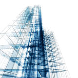 Abstract architecture. Architecture design and model my own royalty free illustration