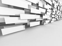 Abstract Architecture Design White Background. 3d Render Illustration Stock Images
