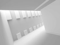 Abstract Architecture Design White Background. 3d Render Illustration Royalty Free Stock Photo