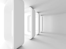 Abstract Architecture Design White Background. 3d Render Illustration Stock Photos