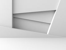 Abstract Architecture Design White Geometric Futuristic Backgrou. Nd. 3d Render Illustration Royalty Free Stock Images