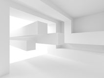 Abstract Architecture Design. White Modern Background Royalty Free Stock Image