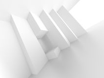 Abstract Architecture Design. White Modern Background Stock Images