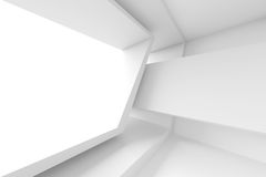 Abstract Architecture Design. White Modern Background. 3d Illustration Stock Photos