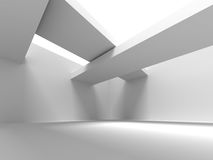 Abstract Architecture Design White Modern Background. 3d Rendeer Illustration Stock Images