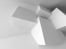 Abstract Architecture Design White Modern Background. 3d Rendeer Illustration Stock Image