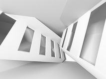 Abstract Architecture Design White Modern Background. 3d Rendeer Illustration Stock Photos