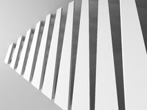 Abstract Architecture Design White Modern Background. 3d Rendeer Illustration Royalty Free Stock Photography