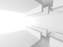 Abstract Architecture Design White Modern Background. 3d Render Illustration Royalty Free Stock Photos