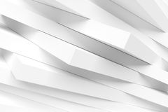Abstract Architecture Design. White Modern Background. 3d Rendering Stock Image