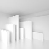 Abstract Architecture Design. White Modern Background. Minimal B. Uilding Construction. Column Interior Concept. 3d illustration of Surreal Futuristic Shapes Stock Image