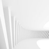 Abstract Architecture Design. White Modern Background. Modern Minimal Building Construction. Column Wallpaper. 3d Rendering Royalty Free Stock Photos