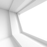 Abstract Architecture Design. White Tunnel Background. 3d Illustration Royalty Free Stock Photo