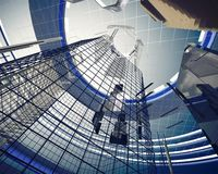 Abstract architecture elements. 3D render Royalty Free Stock Photo