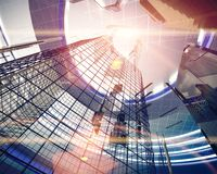 Abstract architecture elements. 3D render Stock Photo