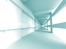 Abstract Architecture Empty Hall Interior Background. 3d Render Illustration royalty free illustration