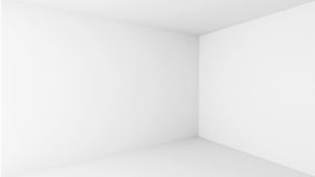 Abstract architecture. Empty white room interior Royalty Free Stock Photos