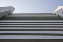 Abstract Architecture Facade Cement Concrete Modern Blue Sky Close Fasanenhof Royalty Free Stock Photo