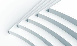 Abstract architecture fragment with five stairs. 3d illustration: white abstract architecture fragment with five stairs installation Royalty Free Stock Image