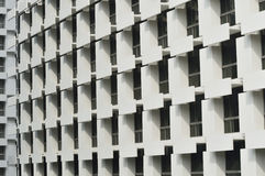 Abstract architecture fragment and windows Royalty Free Stock Photo