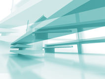 Abstract Architecture Futuristic Blue Design Background. 3d Render Illustration Stock Image
