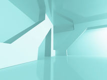 Abstract Architecture Futuristic Design Background. 3d Render Illustration Royalty Free Illustration
