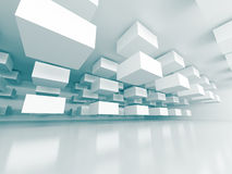 Abstract Architecture Futuristic Design Background. 3d Render Illustration Stock Photo