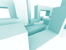 Abstract Architecture Geometric Design Background. 3d Render Illustration Stock Photo