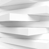 Abstract Architecture Graphic Design. White Modern Wallpaper. 3d Rendering of Abstract Architecture Graphic Design. White Modern Wallpaper. Minimal Tech Stock Illustration