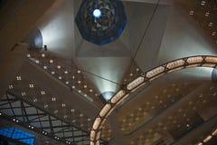 Abstract architecture inside Doha's Islamic Art Museum, Qatar. Royalty Free Stock Photo