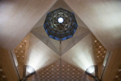 Abstract architecture inside Doha's Islamic Art Museum, Qatar. Stock Photo