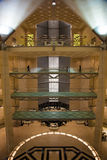 Abstract architecture inside Doha's Islamic Art Museum, Qatar. Royalty Free Stock Photos