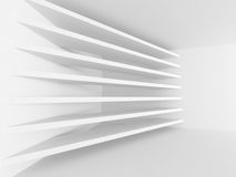 Abstract Architecture Minimalistic White Background. 3d Render Illustration Stock Photos