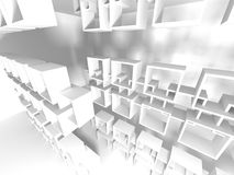 Abstract Architecture Modern Design Background. 3d Render illustration Royalty Free Stock Photos