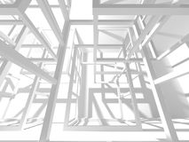 Abstract Architecture Modern Design Background. 3d Render illustration Royalty Free Stock Image
