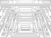 Abstract Architecture Modern Design Background. 3d Render illustration Royalty Free Stock Images
