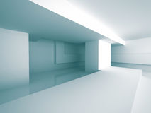 Abstract Architecture Modern Empty Room Interior Background. 3d Render Illustration Royalty Free Stock Photo